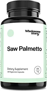 Saw Palmetto by Wholesome Story | 100 Veggie Capsules | 500mg | Saw Palmetto for Women & Men | Restore Fema...
