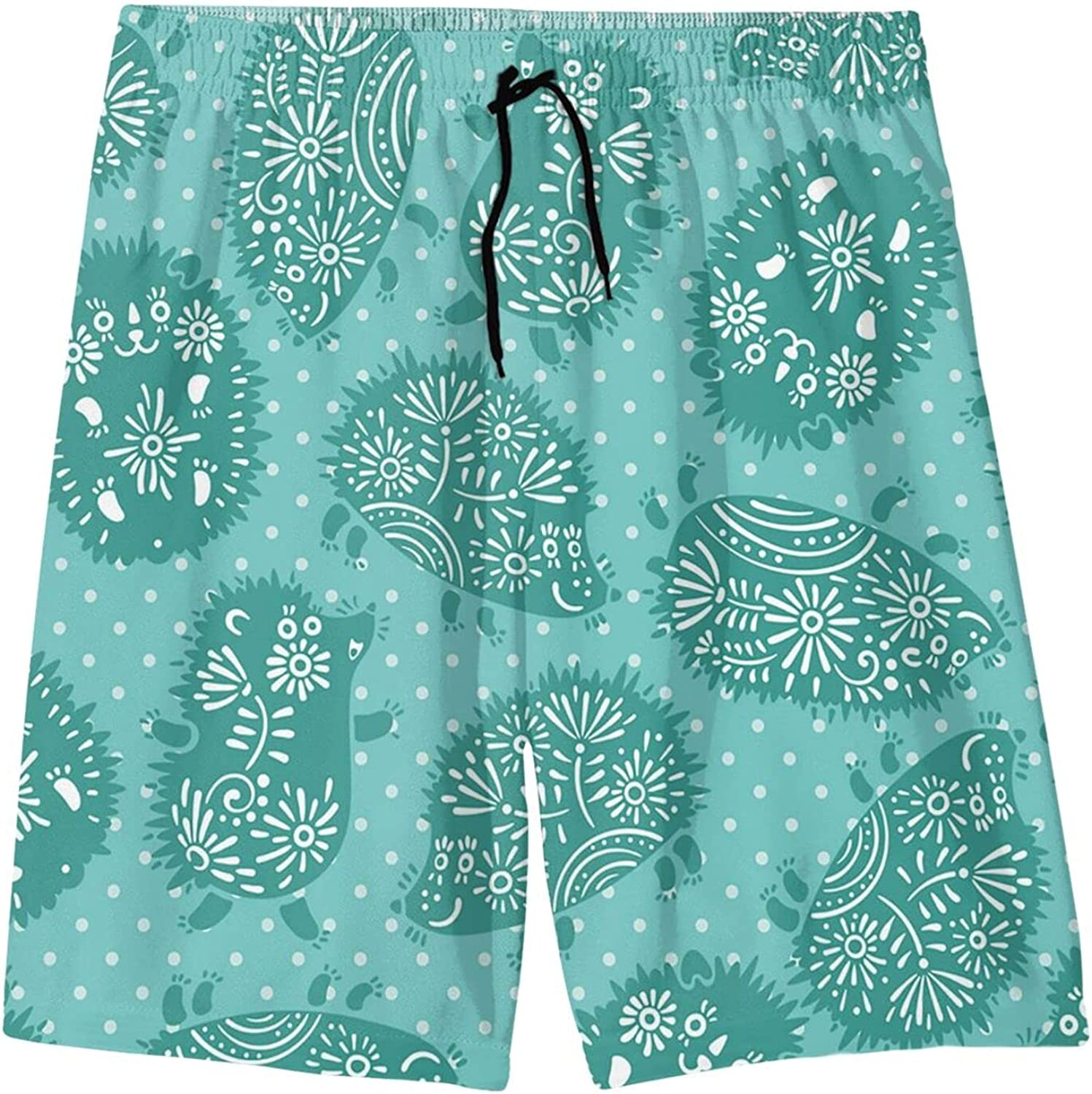 TZT Cute Chicken and Egg Youth Beach Pants Quick-Drying Breathable Loose and Comfortable