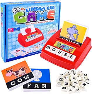 Children's Literacy Matching Letter Game Machine by AlYusuf – Flash Fun Cards English Alphabet Word Spelling Memory Puzzle...