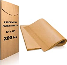 Hiware 200-Pieces Parchment Paper Baking Sheets 12 x 16 Inch, Precut Non-Stick Parchment Sheets for Baking, Cooking, Grilling, Air Fryer and Steaming - Unbleached, Fit for Half Sheet Pans