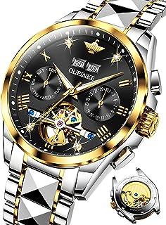 OUPINKE Men's Automatic Watch Luxury Mechanical Diamond Skeleton Self Winding Dress Wrist Watches...