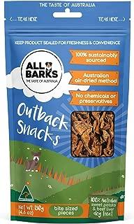 ALL BARKS Outback Snacks 130g - Sweet Potato & Beef Natural Australian Dog Treats - Snacks, Training or Rewards