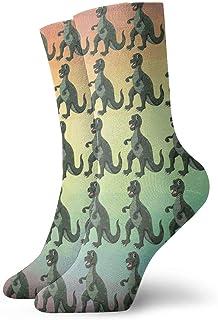 Wdskbg Short Socks Crew Sock Cute Cartoon Dinosaur Printed Sport Athletic Socks 30cm Long Socks