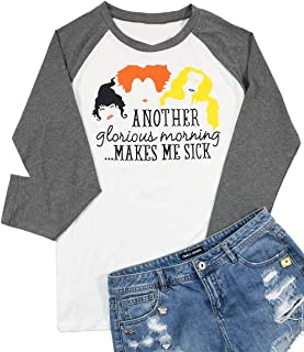 Another Glorious Morning Makes ME Sick Halloween T-Shirt Women Long Sleeve Sanderson Sisters Top Tees