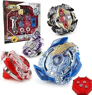 comprar comparacion OBEST Conjuntos de Metal de Peonzas Spinning Fusión 4D 4 Box Gyro Lucha Maestro Cadena Launcher con Estadio Infinity Nado