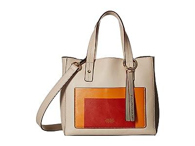 Frances Valentine Joseph Alberz Small Tote (Oyster/Multi) Tote Handbags