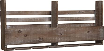Everly Hart Collection Reclaimed Wood Pallet Wine Rack Decor or Wall Art