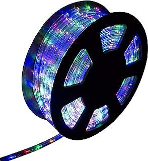 Ainfox LED Rope Light, 100Ft 1080 LEDs Indoor Outdoor Waterproof LED Strip Lights Decorative Lighting Kit (Colorful)