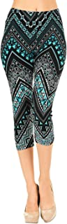 VIV Collection Print Brushed Ultra Soft Cropped Capri...