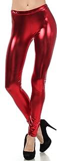 Footless Liquid Wet Look Shiny Metallic Stretch Leggings