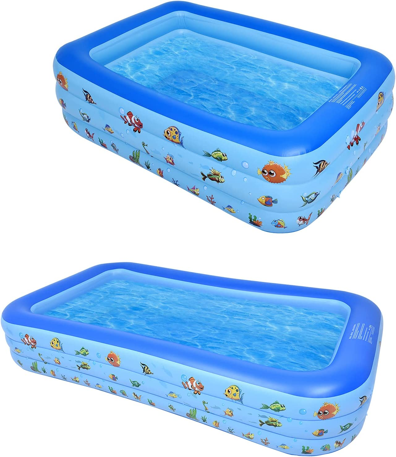 Inflatable Full-Sized Kiddie Pool Hard 2PCS Plastic Max 89% OFF f New popularity Suitable