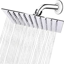HIGH PRESSURE Rain Showerhead, Ultra Thin Design-Best Pressure Boosting, Awesome Shower Experience Even At Low Water Flow, High Flow Stainless Steel (8 Inch Square Shower Head)
