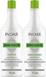 Herbal Solution Kit Shampoo e Condicionador Suave, Inoar, 1 L