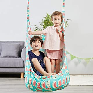 HAPPY PIE PLAY&ADVENTURE Frog Folding Hanging Pod Swing Seat Indoor and Outdoor Hammock for Children to Adult (Watermelon)