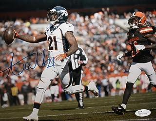 Aqib Talib Autographed Broncos 8x10 Against Browns Photo- JSA Witness Auth