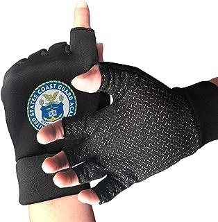 Wendengly United States Coast Guard Academy Half Finger Fingerless Short No-Slip Cycling Gloves Mitten for Bike Skate