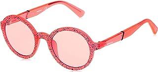 نظارات شمسية للجنسين من ديزل DL026444S48 - برتقالي/ خمري عاكس - محقونة
