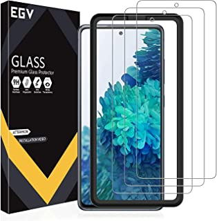EGV 3 Pack Screen Protector Compatible with Samsung Galaxy S20 FE 5G 6.5-inch, Tempered Glass HD Clear, Easy Frame Install...