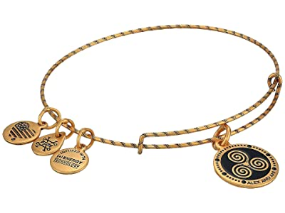 Alex and Ani Embossed Paint Charm, Triskelion Bangle (Rafaelian Gold) Bracelet