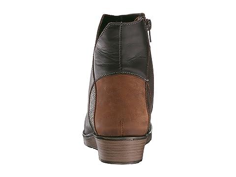 Naot Loyal Black Crackle Leather/Shiny Black Leather