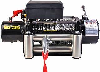 MXBAOHENG Cabrestante de tracción eléctrico para SUV, 12 V, 12000 Libras, Control Remoto de protección contra sobrecarga