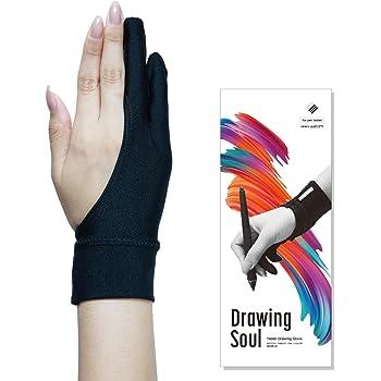 DrawingSoul ワコム監修 液タブ用二本指グローブ Mサイズ