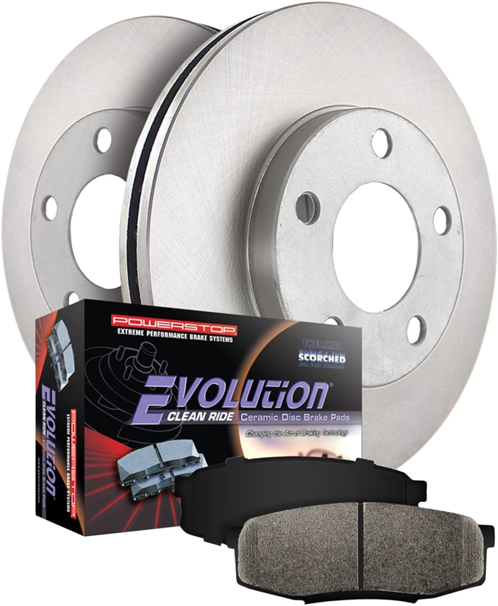 Power Stop KOE7208 New mail order Autospecialty Front Lowest price challenge Replacement Brake Kit-OE