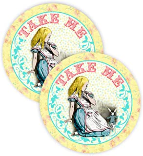 Alice In Wonderland Party Favor Stickers - 40 Favor Bag Stickers - Alice In Wonderland Thank You Tag - Alice In Wonderland Party Supplies - Alice In Wonderland Party Decorations - Stickers A