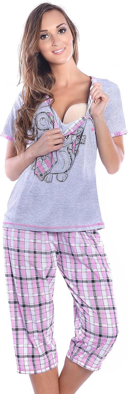 Mija 2 en 1 pijama de lactancia, pijama de maternidad 2071