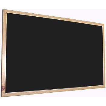 Chely Intermarket, Pizarra Negra 90x60 cm, Enmarcado con Madera ...