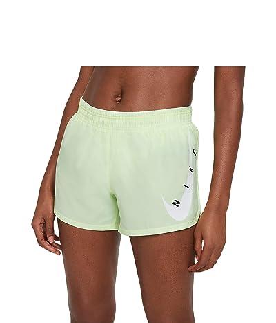 Nike Swoosh Run Shorts (Barely Volt/White) Women