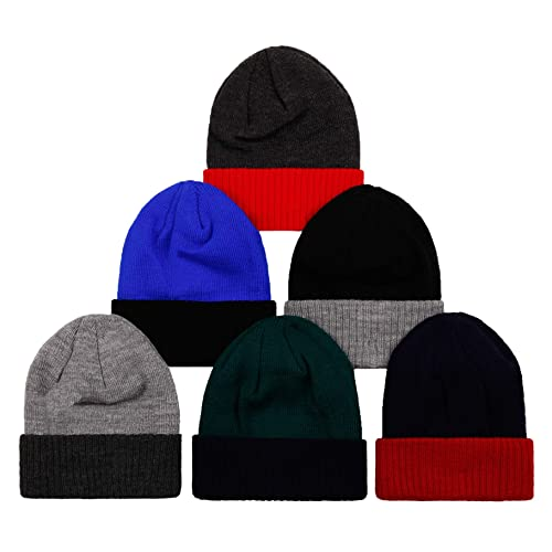 d5e088198c347 2ND DATE Kid s Winter Hat Knit Beanie - Pack of 6