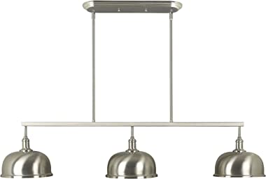 Kenroy Home 91617BS Alice Island Lights, 3 Light Light, Brushed Steel