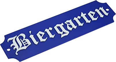 BIERGARTEN Beer Garden Sign German Oktoberfest Party Decor Bavarian Plaque/Sign