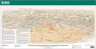 Historic Pictoric Map : Principal Areas of Oil, Natural Gas, and Coal Production in The Northern Part of The Front Range, Colorado, 2005 Cartography Wall Art : 47in x 24in