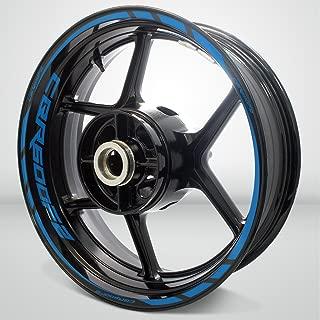 Matte Blue Motorcycle Rim Wheel Decal Accessory Sticker for Honda CBR 600 f2