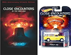 Close Encounters 30th Anniversary Ultimate Edition 3-DVD Set with Hot Wheels Retro Entertainment 1:64 DieCast Car Ford F-250 Truck Bundle