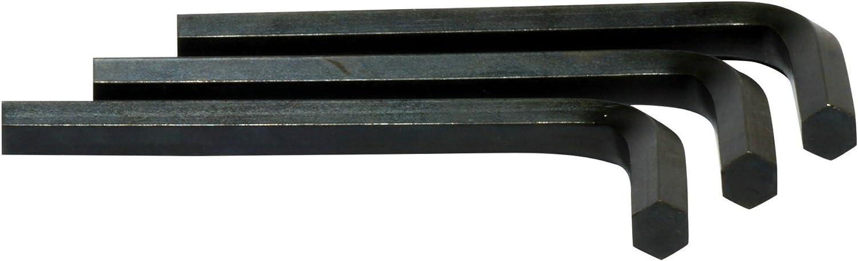 Qty 5 Metric Short Arm BLACK ALLOY STEEL M3 // 3mm Hex Tool // Allen Key