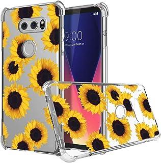 for LG V30 Case, Sidande Shockproof Clear Floral Soft Flexible TPU Slim Phone Case Cover for LG V30, for LG V30s,for LG V3...