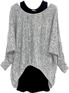 comprar comparacion Emma & Giovanni - Oversize Pullover - Top (Made in Italy) - Mujer