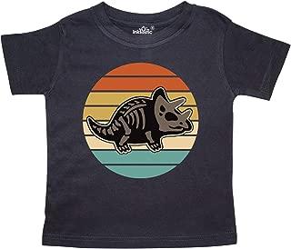 inktastic Dinosaur Triceratops Skeleton Vintage Toddler T-Shirt