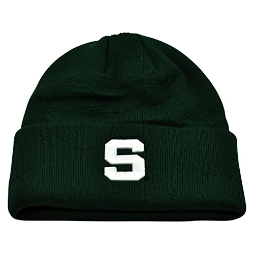 5add5be91dc Michigan State Spartans Team Color Simple Cuffed Knit Hat