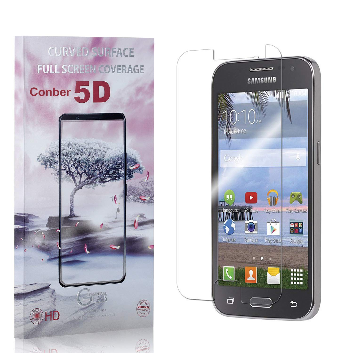 Conber 4 Pack Inexpensive Screen Protector Galaxy Prime Samsung Core for Award-winning store
