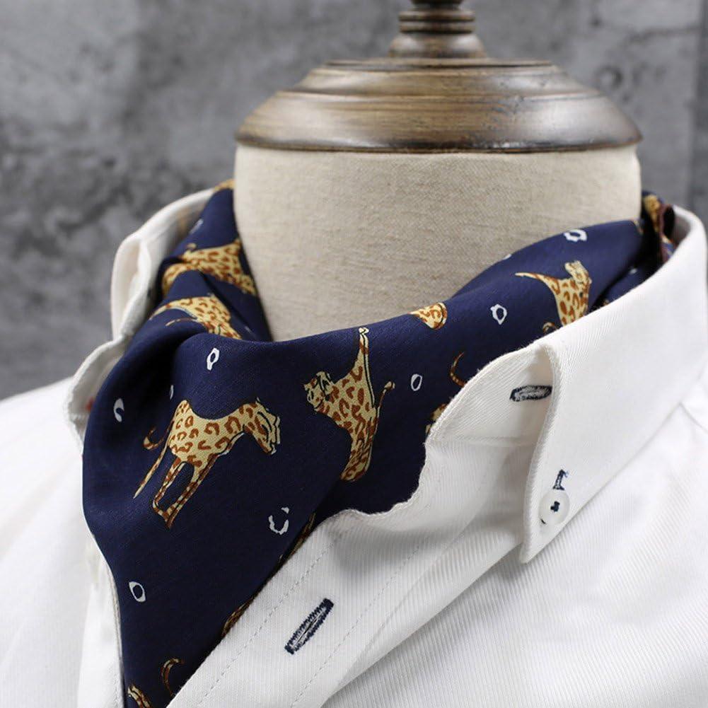 LIANGJUN Elegent Necktie Silk Cravat Men Scarf Formal Occasions Wedding Shirt Office, 5 Types Available, 59X56cm (Color : 4#)
