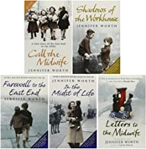 Jennifer Worth Paperback 5 Books Collection (In the Midst of Life, Farewell To The East End, Shadows Of The Workhouse, Cal...