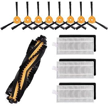MIRTUX Kit de 4 cepillos Laterales para Conga Excellence 990. Pack de 4 x Cepillo Lateral para aspiradora Robot cecotec Conga: Amazon.es: Hogar