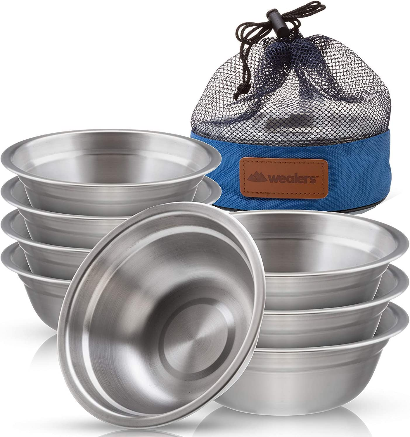 Wealers Stainless Steel Bowl Set 6 At the Memphis Mall price - inch Dinnerw Ultra-Portable