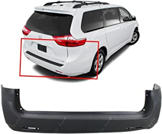 MBI AUTO - Primered, Rear Bumper Cover for 2011-2018 Toyota Sienna 11-18, TO1100286