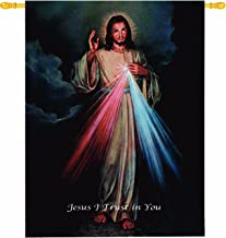 Manual Inspirational Collection Wall Hanging and Finial Rod, The Divine Mercy, 26 X 36-Inch