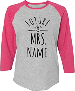 Future Mrs. Diamond Bling: Ladies Relaxed Fit 3/4 Sleeve Raglan Tee